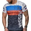 FIGHTERS - T-Shirt / Russland / Weiss-Blau-Rot-Schwarz